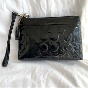 Coach Embossed C's Clutch Wristlet Patent Leather